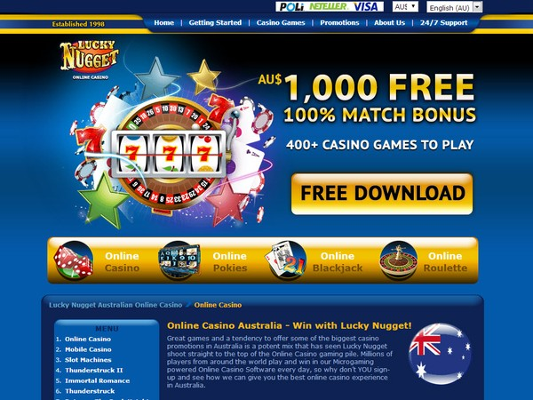 Lucky Nugget Mobile Casino Australia