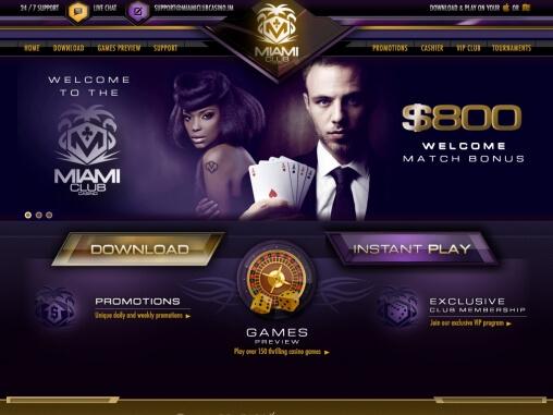 Miami Club Casino Review Claim Up To Au 800 Welcome Bonus