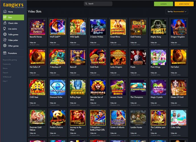 Tangiers Casino Online